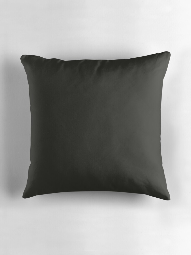 Plain Black Throw Pillow :