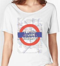 Tooting is where the heart is - South West London love! Women's Relaxed Fit T-Shirt