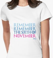 Vote November 6th Women's Fitted T-Shirt