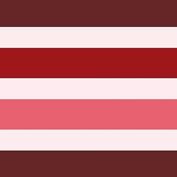 Stripes Mix Red by MissDewi