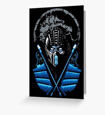 Mortal Kombat - Sub Zero Greeting Card