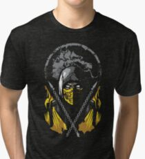 Mortal Kombat - Scorpion Tri-blend T-Shirt