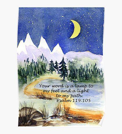 Guidance, Psalm 119:105 Poster