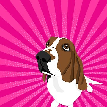 Lucky the Basset Hound by robyriker