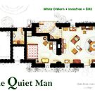 Floorplan of White O'Morn cottage from THE QUIET MAN by Iñaki Aliste Lizarralde