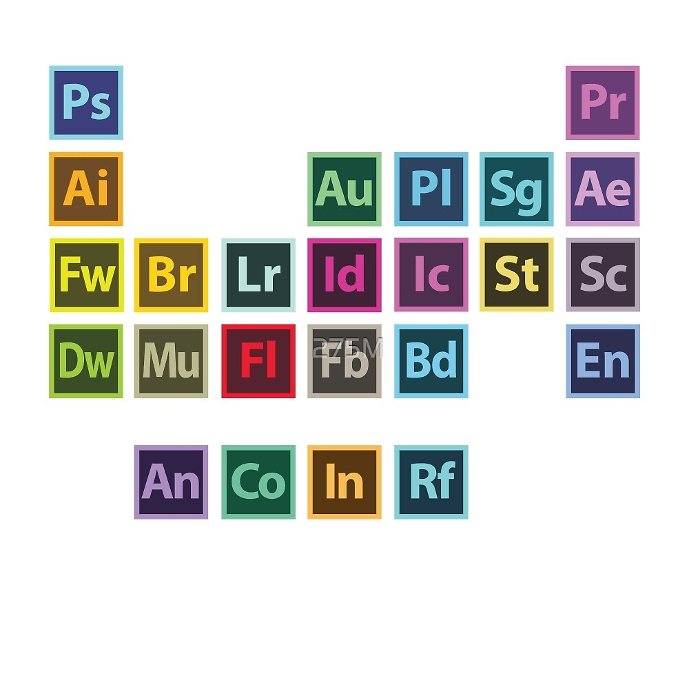 Adobe table of elements by jeremy b redbubble adobe table of elements by jeremy b gamestrikefo Image collections