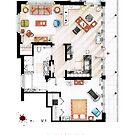 Floorplan of the apartment from DEXTER - V.1 by Iñaki Aliste Lizarralde