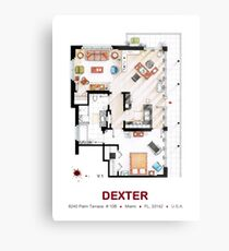 Floorplan of the apartment from DEXTER - V.1 Metal Print