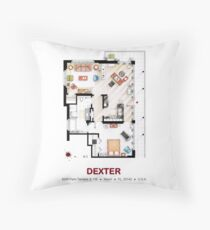 Floorplan of the apartment from DEXTER - V.1 Throw Pillow