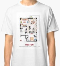 Floorplan of the apartment from DEXTER - V.1 Classic T-Shirt
