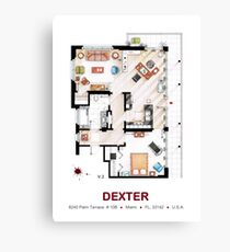 Floorplan of the apartment from DEXTER - v.2 Canvas Print