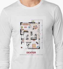 Floorplan of the apartment from DEXTER - v.2 Long Sleeve T-Shirt