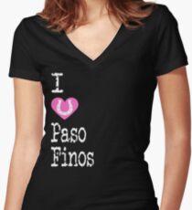I Heart Pasofinos | Love Pasofino Horse Breeds Women's Fitted V-Neck T-Shirt