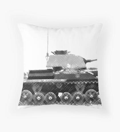 a cool tank Throw Pillow