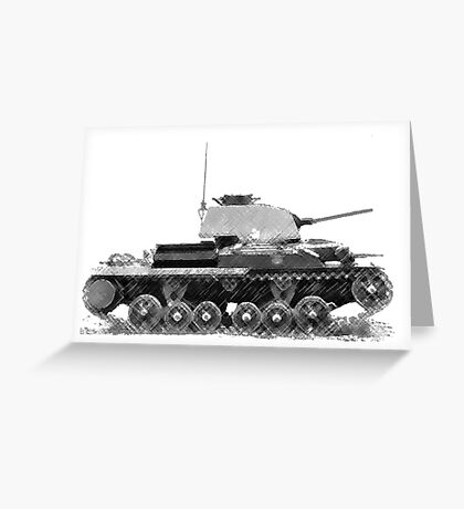 a cool tank Greeting Card
