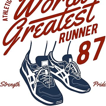 ATHLETIC WORLD CHAMPIONSHIP WORLD GREATEST RUNNER 1987 ATHLETIC DEPT   T-SHIRT  by rosadinardo4