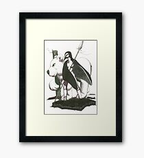 warriors of the black ice Framed Print