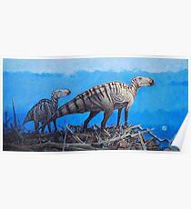 Cretaceous Overlook - Brachylophosaurus Poster