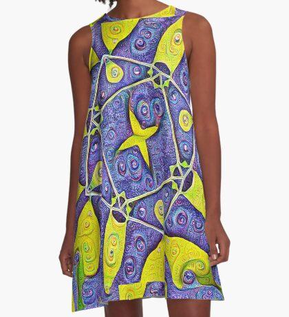 #DeepDream Kiwi 5x5K v1455289624 A-Line Dress