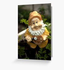 Painty the Garden Gnome Greeting Card