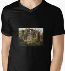 Monastery Ruin Eldena Men's V-Neck T-Shirt