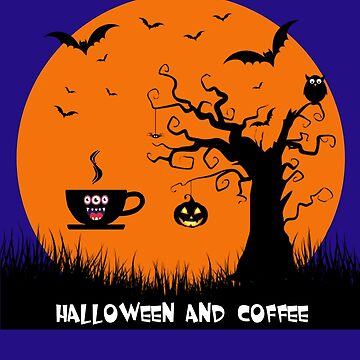 HALLOWEEN, MOON AND COFFEE by FiftyStyle