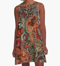 Blutgeode A-Linien Kleid