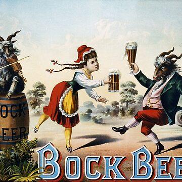 Vintage poster - Bock Beer by mosfunky