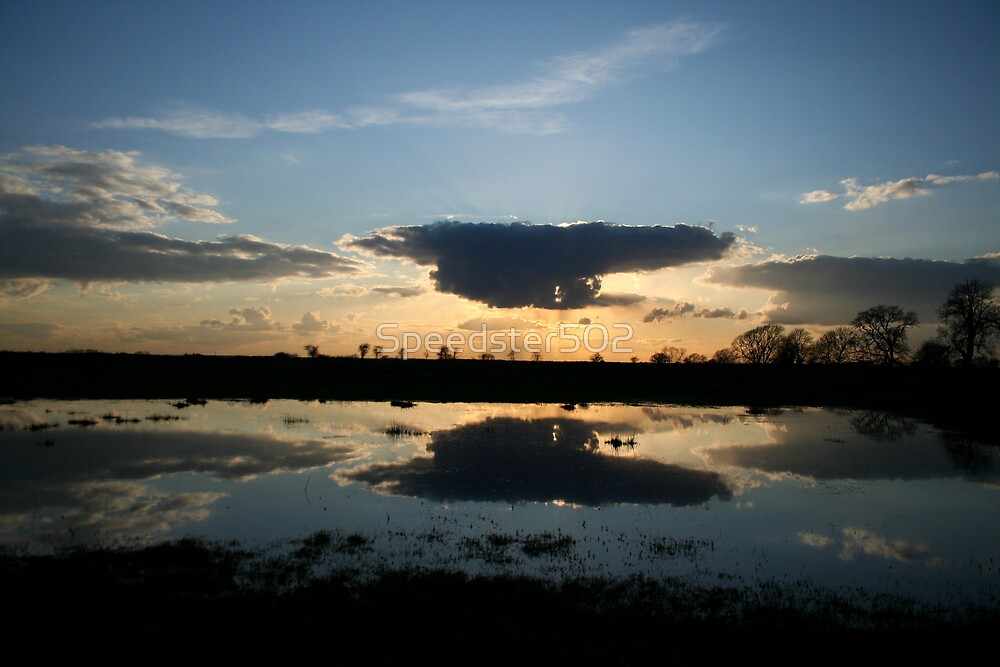 Sunset Reflection at Kirkstead Abbey by Speedster502