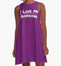 I Love My 'Games More Than My' Boyfriend A-Line Dress