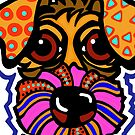 Orange  Terrier Dog Dogs Airedale Wheaton Lakeland Kerry Schnauzer Fox Puppy Sealyham Irish Schnauzer Norfolk Norwich Scottish English Gift Idea Jackie Carpenter Cairn by jrcarmax