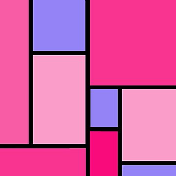 Color Block Pop Art Pink and Purple by Greenbaby