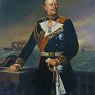 Kaiser Wilhelm II in German Navy Uniform  by edsimoneit