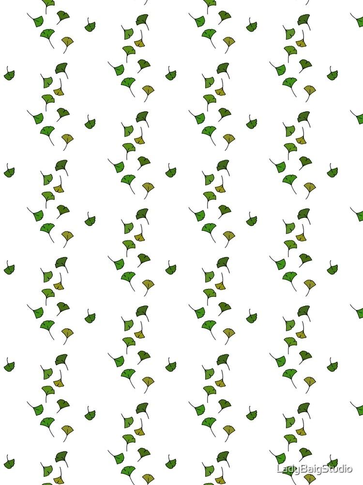 Free Falling Ginkgo Leaves by LadyBaigStudio