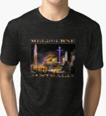 Fairground Attraction (diptych - left side) Tri-blend T-Shirt