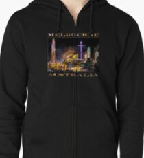 Fairground Attraction (diptych - left side) Zipped Hoodie