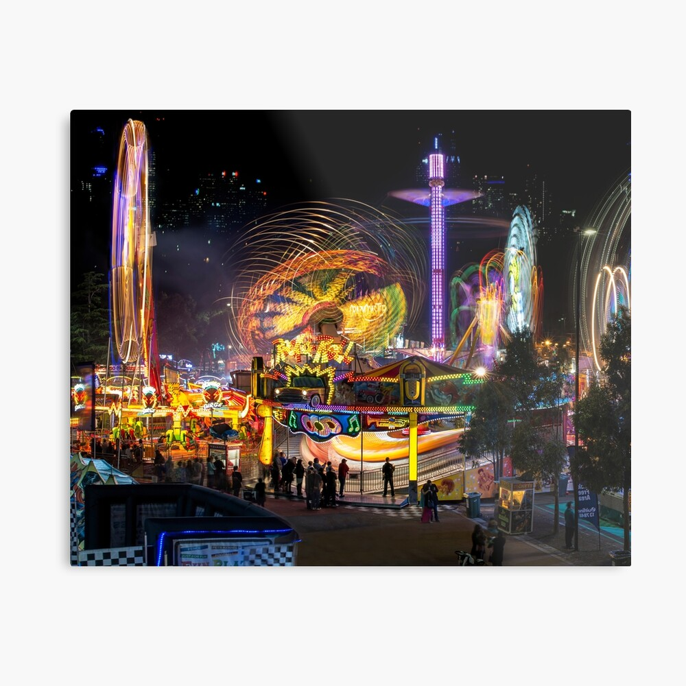 Fairground Attraction (diptych - left side) Metal Print