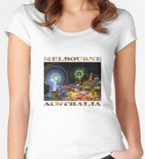 Fairground Attraction (diptych - right side) Women's Fitted Scoop T-Shirt
