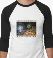 Fairground Attraction (diptych - right side) Men's Baseball ¾ T-Shirt