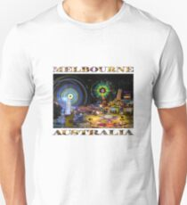 Fairground Attraction (diptych - right side) Unisex T-Shirt