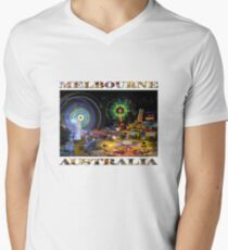 Fairground Attraction (diptych - right side) Men's V-Neck T-Shirt
