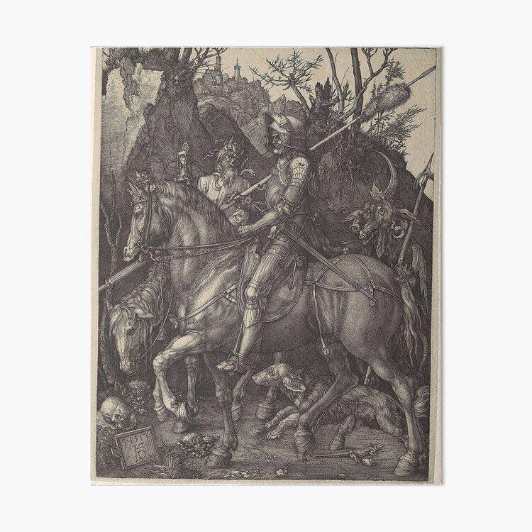 The Knight, Death and the Devil, by Albrecht Dürer, 1513 Art Board Print