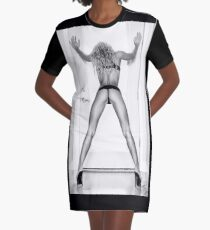 "Fine Erotic Art Photography - Female Erotic Art - ""Assume The Position - Modern Pinup"" Featuring a Hot Sexy Blonde Bikini Model - Perfect Ass - Great Ass - Nice Ass Graphic T-Shirt Dress"