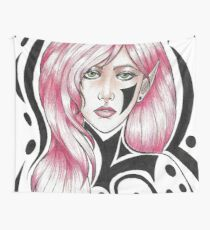 Pink and Black Wall Tapestry
