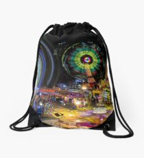Fairground Attraction (diptych - right side) Drawstring Bag