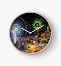 Fairground Attraction (diptych - right side) Clock