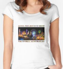 Fairground Attraction (poster on white) Women's Fitted Scoop T-Shirt