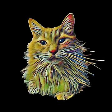 Painted Cat Art  by bethcentral
