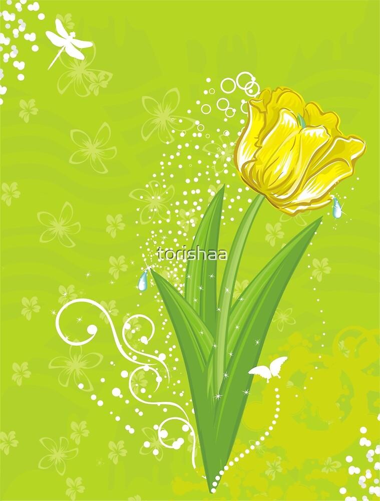 yellow tulip  by torishaa