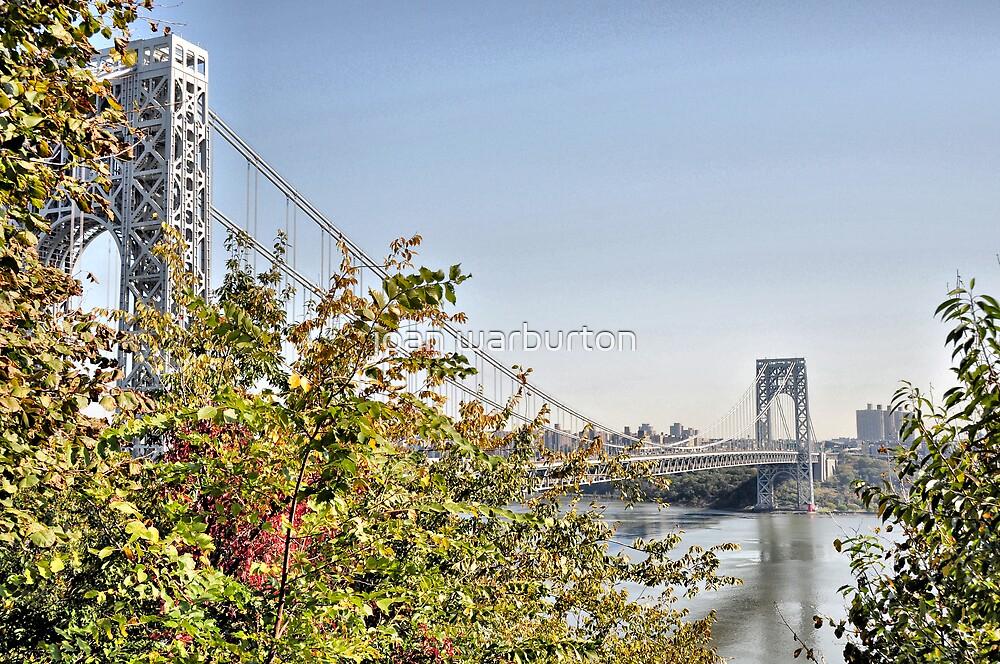 George Washington Bridge from Historic Park by joan warburton